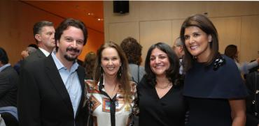 ניקי היילי, רינת קדם ברט, שרי אריסון וג'ייסון אריסון  / צילום: טלי קצורין