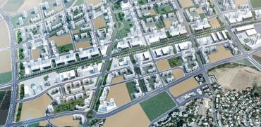 שכונה חדשה בקרית אתא / הדמיה: דב קורן אדריכלים