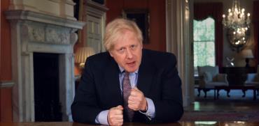 ראש ממשלת בריטניה בוריס ג'ונסון / צילום:  PA Video/Downing Street Pool , Associated Press