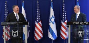"""מזכיר המדינה האמריקאי מייק פומפיאו וראש הממשלה בנימין נתניהו / צילום: קובי גדעון, לע""""מ"""