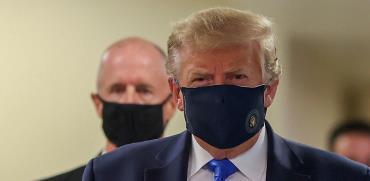 """נשיא ארה""""ב, דונלד טראמפ / צילום: Tasos Katopodis, רויטרס"""