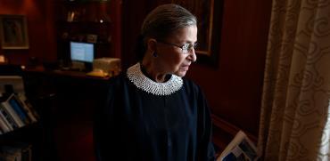 שופטת העליון רות ביידר גינסבורג / צילום: Charles Dharapak, Associated Press