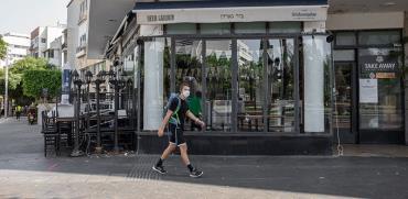 """הבר """"ביר גארדן"""" בתל אביב סגור ונעול. סגר סבב ב' / צילום: כדיה לוי, גלובס"""