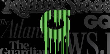 גליון קנאה ופרגון - ברקע סמלילי המגזינים רולינג סטון, אטלנטיק, הגרדיאן, GQ, הוול סטריט ג׳ורנל / עיבוד: גלובס
