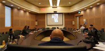 אריה דרעי בשיחת וידאו עם ועדת הקורונה של הכנסת / צילום: שמוליק גרוסמן, דוברות הכנסת