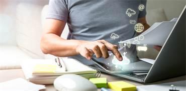 הענן מספק תשתית מתאימה ואבטחת מידע בעבודה מהבית / צילום: Shutterstock/א.ס.א.פ קרייטיב