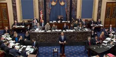 אדם שיף, התובע המרכזי באימפיצ'מנט של דונלד טראמפ / צילום: U.S. Senate TV, רויטרס