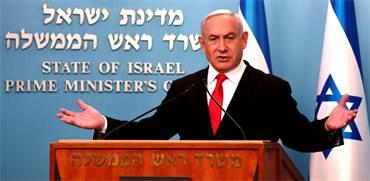 ראש הממשלה בנימין נתניהו בהצהרה על הנחיות חדשות למשבר הקורונה / צילום: Gali Tibbon, Associated Press
