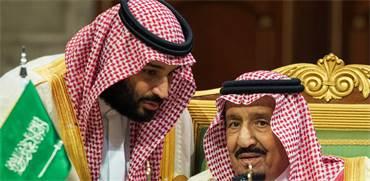 סלמאן מלך סעודיה עם בנו נסיך הכתר מוחמד / צילום: Saudi Press Agency, Associated Press