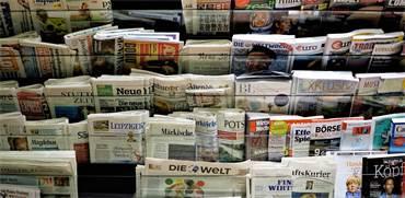 דוכן עיתונים בברלין. גוגל מנסה לחתום על הסכמים ישירים עם מערכות העיתונים צילום:  Shutterstock/ א.ס.א.פ קריאייטיב