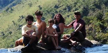 יעל אוזן תדהר והמשפחה בשמורת מלולוצ'ה, סוואזילנד / צילום: תמונה פרטית