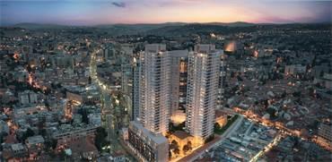 """פרויקט מגדלי המגורים שיוקם ליד שוק מחנה יהודה / הדמיה: יח""""צ"""