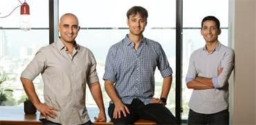 אבישי עובדיה (מימין), עופר רותם ואדם בניון, מייסדי Collider Ventures / צילום: איל יצהר, גלובס