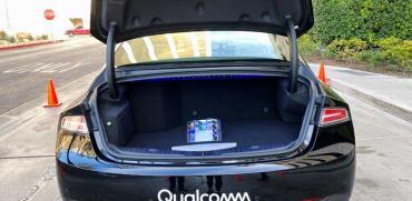 רכב של קוואלקום שהוצג אתמול ב CES/ צילום:  רויטרס Jane Lanhee Lee