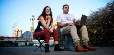 הבלוגרים מתן אליהוא וג'ואנה ועקנין / צילום: שלומי יוסף