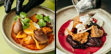 מסעדת אנימאר צ'ירשי דלעת וביצה רכה / צילום: ספיר קוסא