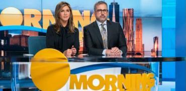 """אניסטון וקארל ב""""תוכנית הבוקר""""./ AppleTV : צילום"""