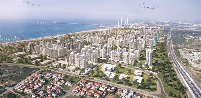 רובע הים בחדרה. כ- 10,000 יחידות דיור חדשות  צפויות להיבנות באזור / הדמיה: לייטרסדורף בן דיין