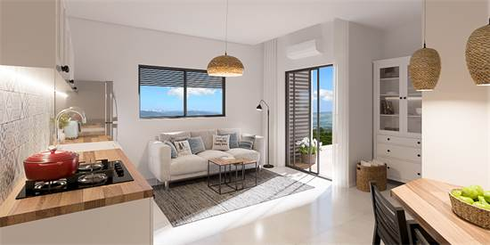 הדירות בפרויקט מגיעות מאובזרות ועם מוצרי חשמל / הדמיה: Olin