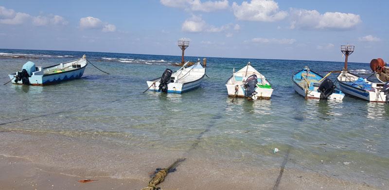 מעגן הדייגים בג'סר א־זרקא / צילום: יותם יעקבסון