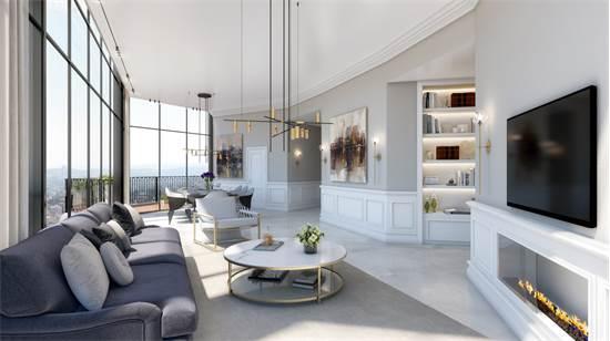 """דירת פנטהאוס בפרויקט """"ג'רוזלם ספיריט"""" / הדמיה: Viewpoint"""