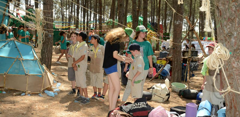 מחנה קיץ של תנועת הצופים / צילום: תמר מצפי
