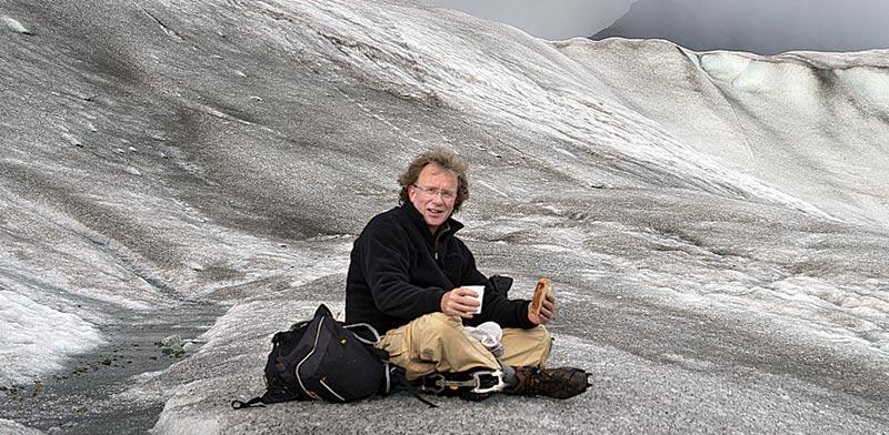 נפתלי הילגר  על הקרחון  בפארק Elias Wrangel / צלם: נפתלי  הילגר