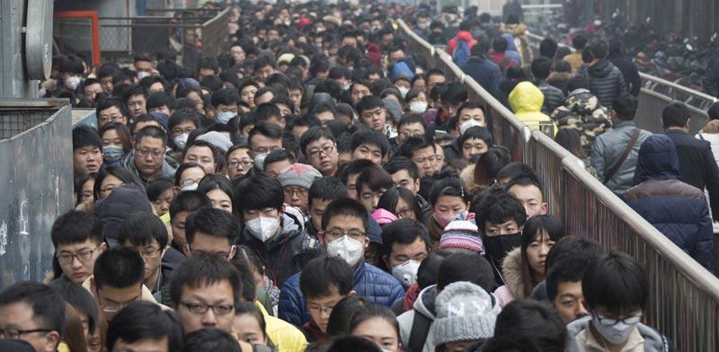 זיהום אוויר בבייג'ין / צילום: רויטרס