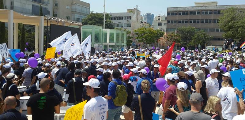 הפגנת עובדי קבלן / צילום: ההסתדרות