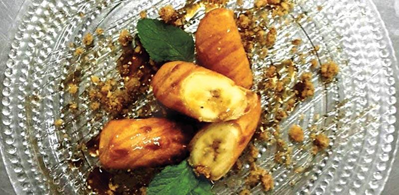 קינוח בננה במסעדת הדגים/ צילום:יחצ אקוש קרמר