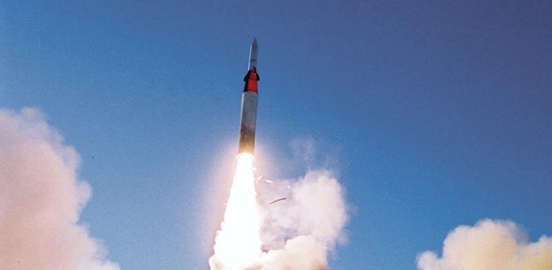 ניסוי בטיל חץ 2 / צילום: התעשייה האווירית