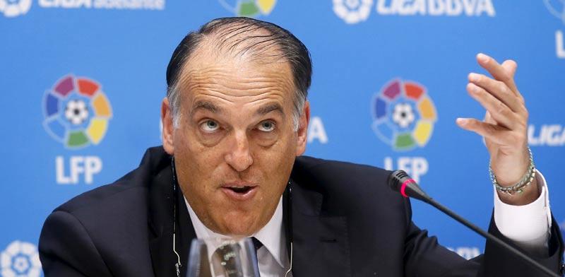 חבייאר טבאס, נשיא מינהלת הליגה של הכדורגל הספרדי / צלם: רויטרס