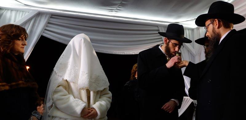 חתונה יהודית/ צילום:רויטרס