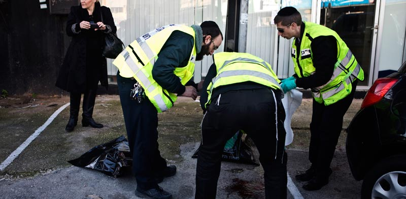פיגוע דקירה בתל אביב / צילום: רויטרס