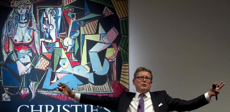 הציור של פיקאסו במכירה הפומבית/ צילום: רויטרס
