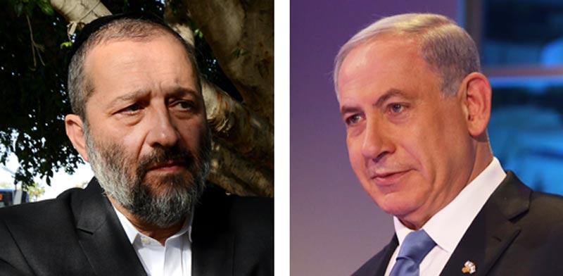 Arye Deri and Benjamin Netanyahu