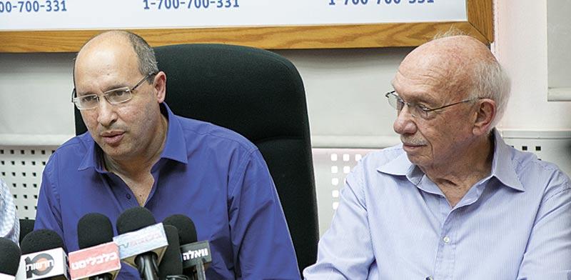 אביגדור קפלן ואבי ניסנקורן / צילום: שלומי יוסף