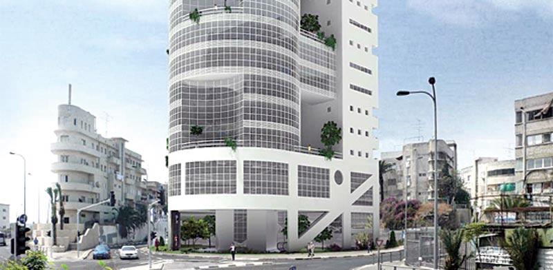 הדמיית המגדל בדרום תל אביב / הדמייה: יחצ