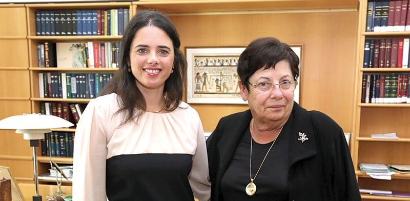 """הנשיאה מרים נאור והשרה איילת שקד / צילום: יח""""צ"""