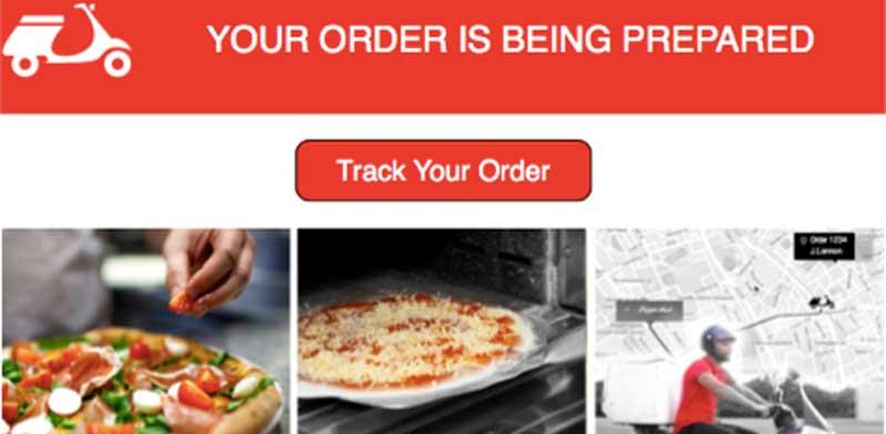 מסך הלקוח של פיצה האט/ צילום מסך