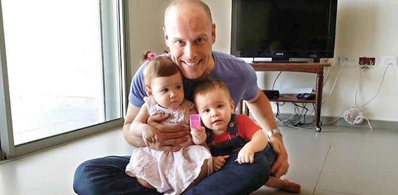 טל רווה ושני ילדיו / צילום פרטי