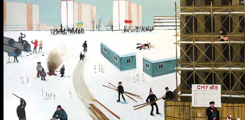 1991 באוקראינה עבודה של זויה צ'רקסקי/ צילום: מוזיאון ישראל