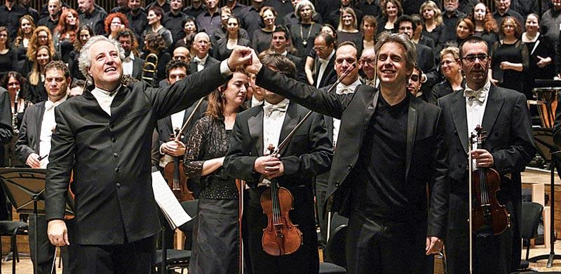 הפילהרמונית עם אלפרד הונק / צילום:עודד אנטמן