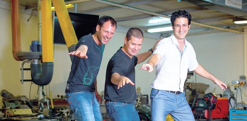 אסף פורמוזה, ארז אברמוב וגדעון גולדוויין / צילום: אריק סולטן