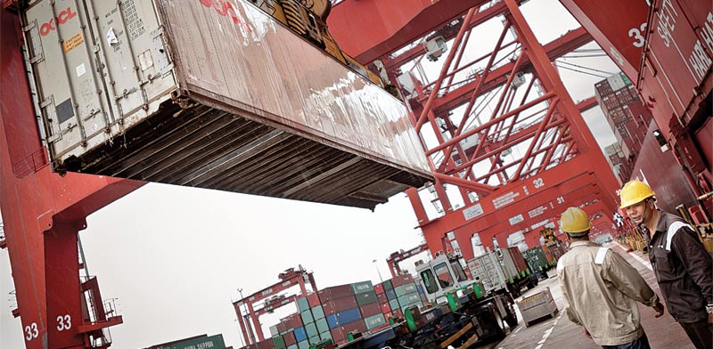 """נמל ימי המוחזק ע""""י China Merchants / צילום: בלומברג"""