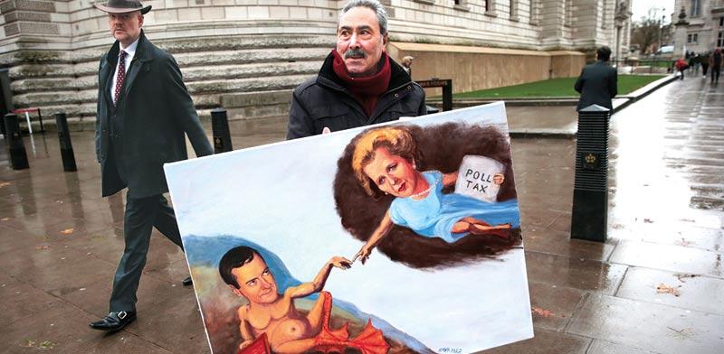שר האוצר הבריטי אוסבורן מתחבר למרגרט תאצ'ר / צילום: רויטרס