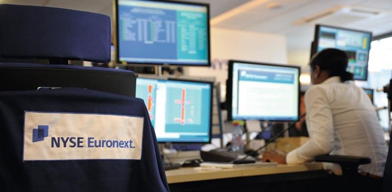 בורסת NYSE Euronext בפריס / צילום: רויטרס