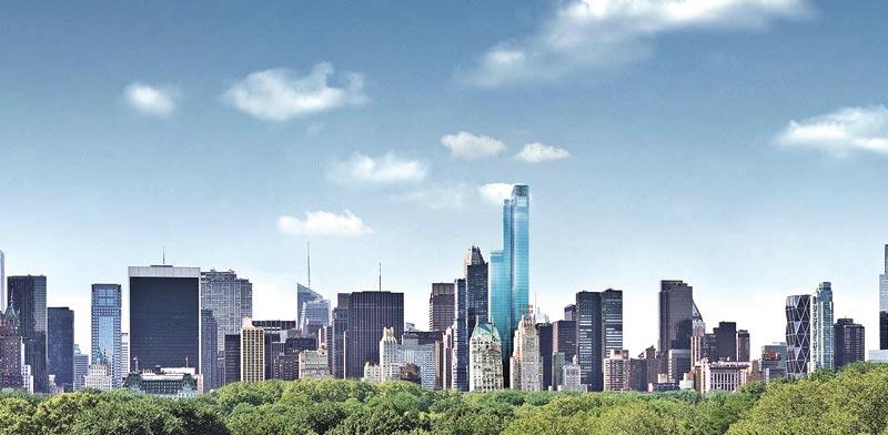 הדמיית פרויקט One 57 של אקסטל במנהטן / צילום: מצגת החברה