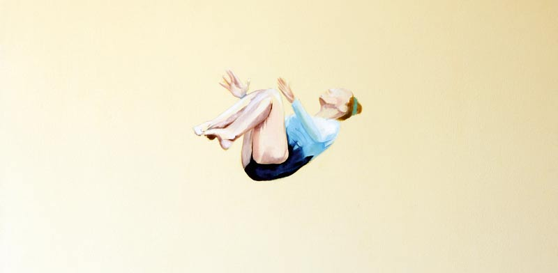 """ענבר שריון, """"No Falling"""", שמן על בד,70100 X  ס""""מ, 2015"""