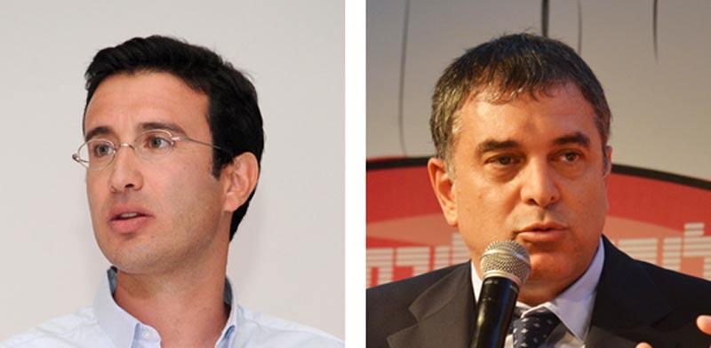 שלמה פילבר ומיכאל גולן / צילום: תמר מצפי